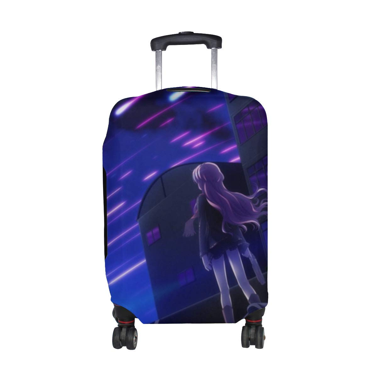 Maxm Makita Maki Anime Art Fuse Narumi Mukougaoka Kana Shinigami No Testament Takamiya Ayumu Pattern Print Travel Luggage Protector Baggage Suitcase Cover Fits 18-21 Inch Luggage