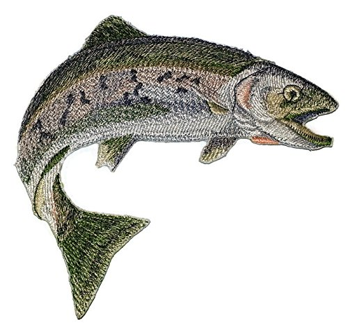Nature's Bounty Beautiful Custom Fish Portraits[ Rainbow Trout ] Embroidered Iron On/Sew patch [7