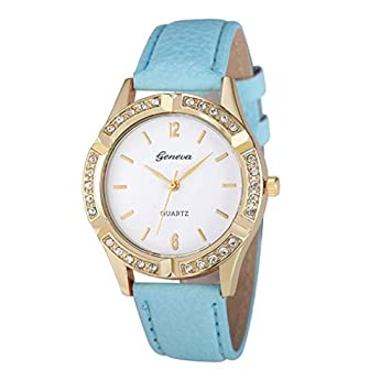 Womens Watches,Windoson Women Watches Prime Ladies Casual Dress Wrist Quartz Watches with Diamond Leather