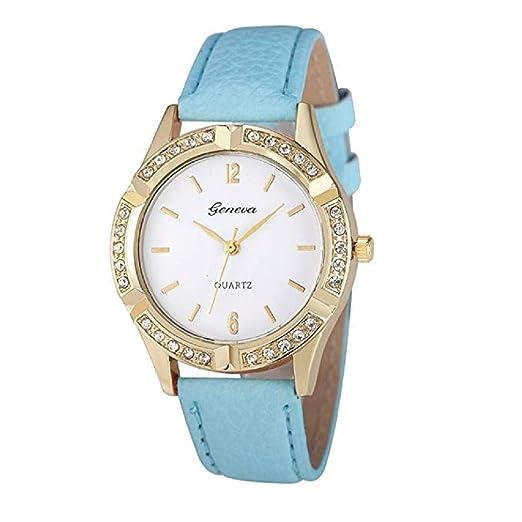 ClÁSico Reloj para Damas, Scpink Reloj De Cuarzo De Moda Ventana De Cristal con PedrerÍA Acero Inoxidable Esfera Redonda Vestido Elegante Reloj Digital ...