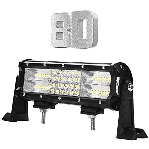 LED Light Bar Rigidhorse Quad Row 9Inch 180W Light Bar Spot Flood Combo Beam Off Road Light Bar High Bright for Jeep SUV Truck ATVs