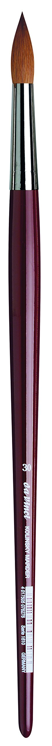 da Vinci Oil & Acrylic Series 1610 Oil Paint Brush, Round Kolinsky Red Sable, Size 30 (1610-30)