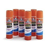 Elmer's Disappearing Purple School Glue, lavable, paquete de 6, palitos de 0.21 onzas