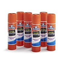 Elmer's Disappearing Purple School Glue Sticks, 0.21 oz, Pack of 6 (E1560) by Elmer's
