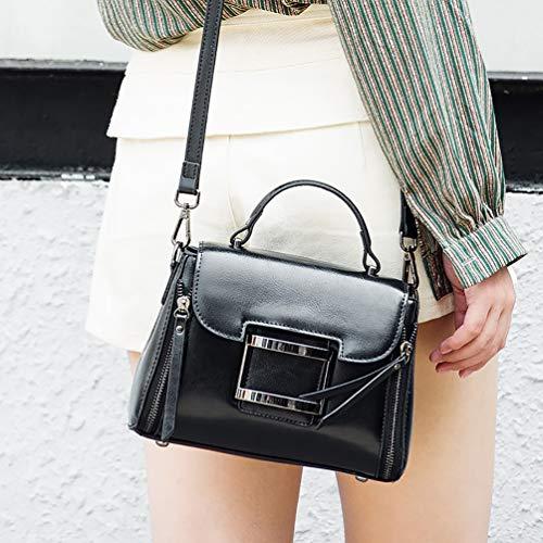 In Moda E Lavoro Fs Fine Pelle Retrò Black white A Per Tracolla Ragazza wg Shopping Mano Viaggi Donna Borsa Settimana AxwPqXx8