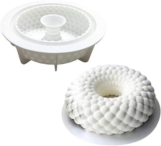 ZOOENIE Neue Shakyamuni Fisch Skala Geformt 3D Silikon Form DIY Runde Kranz Garland Mousse Schokolade Mould Kuchen Dekoration Werkzeuge Backformen