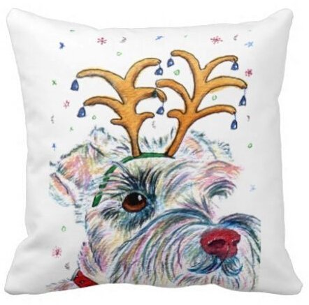 - Unique Style Best Christmas Schnauzer Funny Square Pillowcase 18x18 Inch