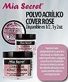 Mia Secret Cover Acrylic Powder -NUDE BLUSH /PINK /ROSE /BEIGE 0.5oz/1oz/2oz/4oz + FREE Temporary Tattoo! (24 oz, Rose)