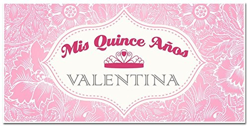 Mis Quince Quinceañera Fifteenth Birthday Celebration Banner - Personalized Party (Celebration Personalized Banner)