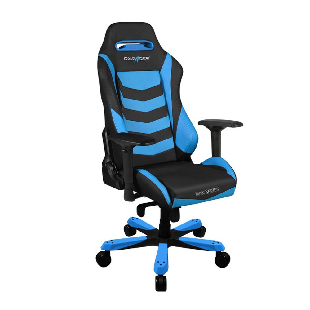 black and blue gaming chair