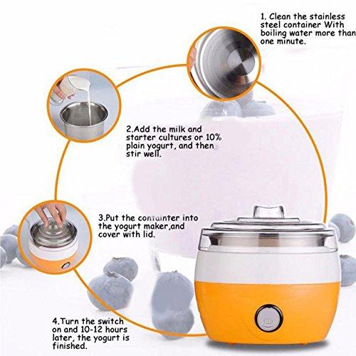 Electric Yogurt Maker 1L Capacity stainless steel fermenter Yogurt Maker Masc 220 V -Pier 27