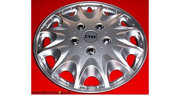 J-Tec 4 Tapacubos para Fiat Ducato/HYMER/Peugeot/Citroen in15silber Metallic nuevo: Amazon.es: Coche y moto