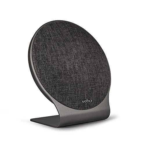 Veho M10 Wireless Portable Bluetooth Speaker | Microphone | Swipe Control Track/Volume | Handsfree Calling | 60 Watt | 2 x 20W Bass | 2 x 10W Treble | Space Grey – (VSS-016-M10) by Veho