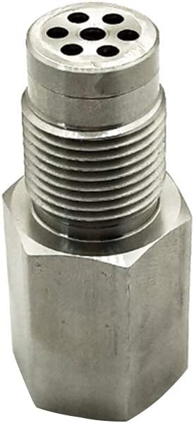 Auto Motor Licht Edelstahl Check Spacer Universal CEL Eliminator Mini Katalysator Auto Parts Tool O2 Sensor Adapter Free Size Silber