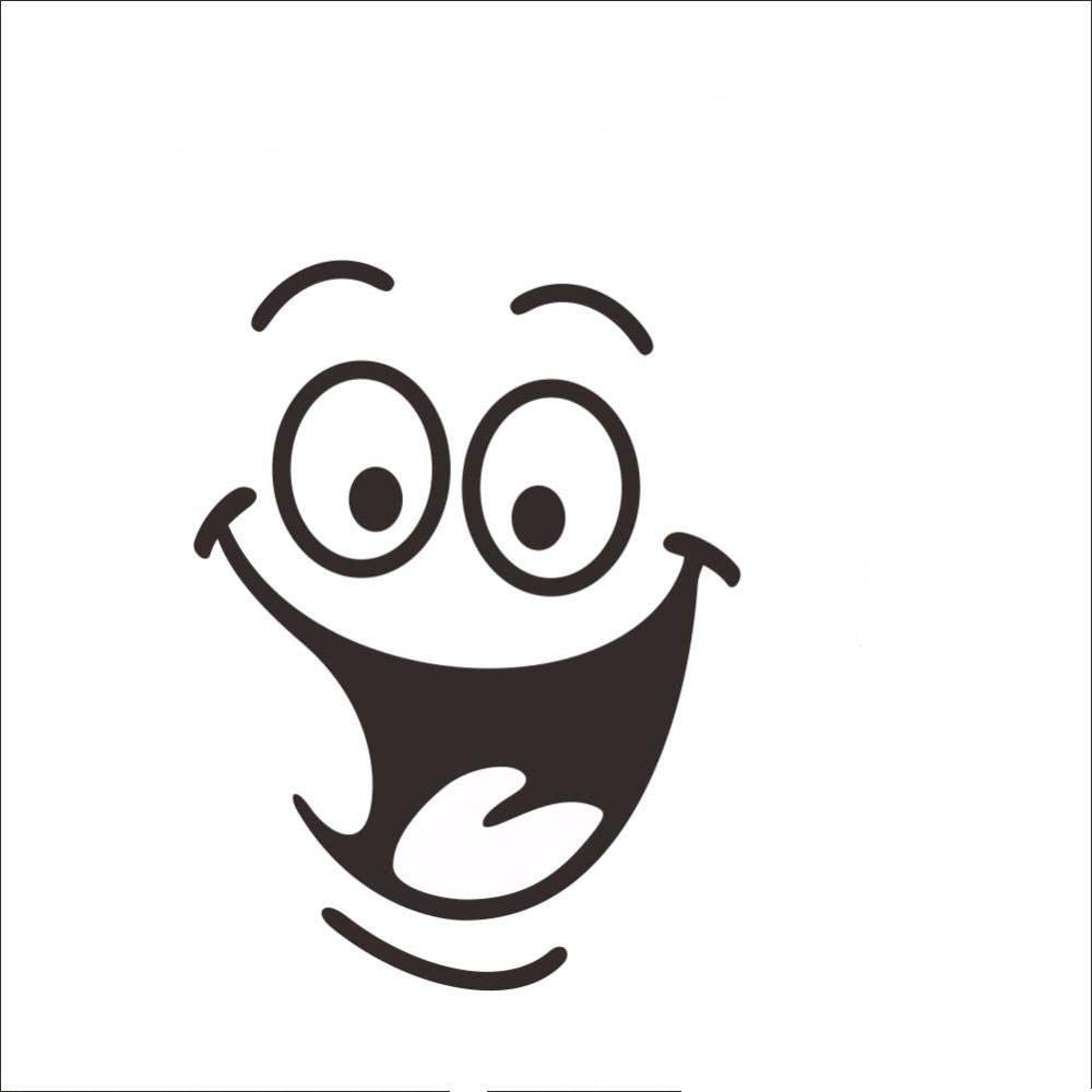Kids Room  Home Decor Wall Art Mural Smile Face Decal Cartoon Toilet Stickers