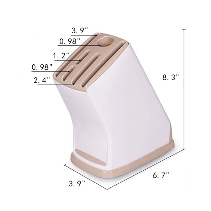 Amazon.com: Plástico Cuchillo de cocina Bloque soporte ...