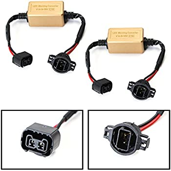 Amazon Com Ijdmtoy 2 Led Fog Lamps Conversion Adapter