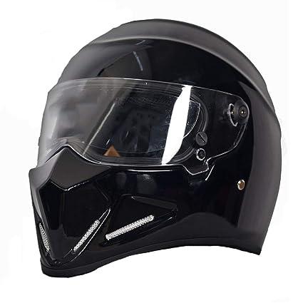 Casco de motocicleta FRP, casco de locomotora de rostro completo para locomotora Harley masculino y