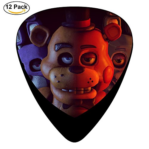 Five-Nights-Fred DIY Personalized Custom Fashion Celluloid Bakelite Guitar Picks 12-Pack (Five Nights At Freddys Guitar)