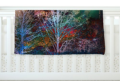 KESS InHouse Sylvia Cook Trees in the Night Fleece Baby Blanket 40 x 30 [並行輸入品]   B0785Q9BCB