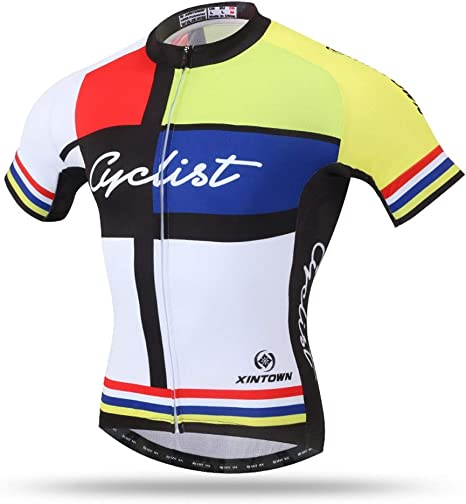 Unkoo Jersey de ciclismo para hombre Camiseta de media manga Top Cycle Racing Team Ciclismo de calidad para hombres Camisa de bicicleta de montaña de malla para hombres Transpirable Camisa de biciclet: