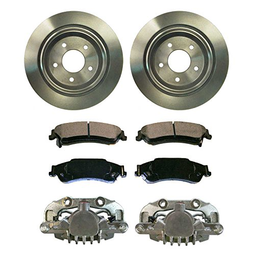 Prime Choice Auto Parts BCPKG00682 Rear Calipers with Rotors & Ceramic Brake Pads Set