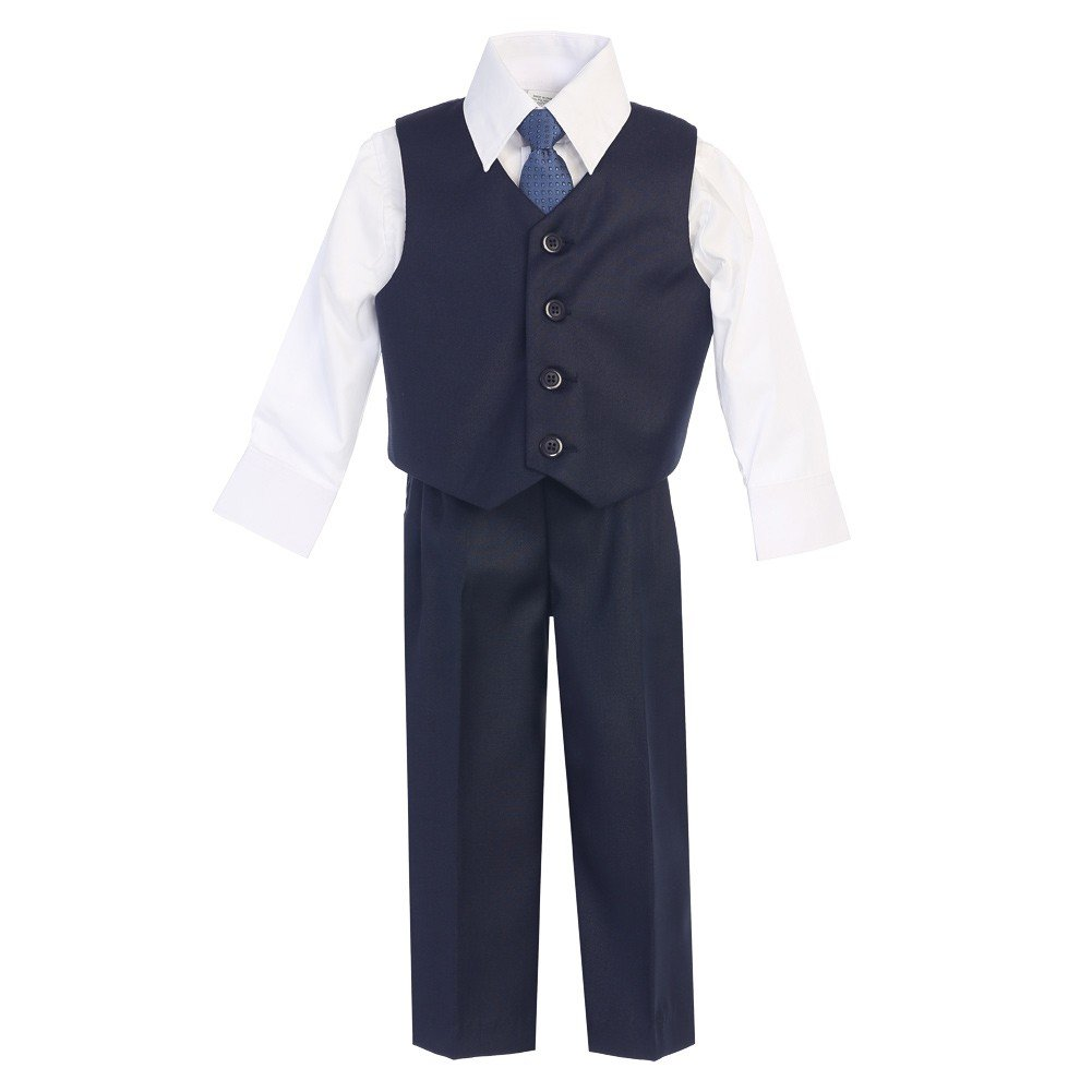 Lito Baby Boys Navy Vest Pants Special Occasion Easter Outfit Set 6-24M