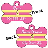 Disney Princess Double Sided Pet Id Tag for Dogs & Cats Personalized With 4 Lines of Text (Belle)