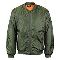 Deals on VKWear Men's Padded Zip Up Flight Bomber Jacket