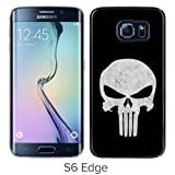 Galaxy S6 Edge Case,Punisher Skull Black Samsung Galaxy S6 Edge Screen Phone Case Fashion and Nice Design
