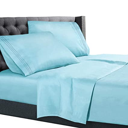 Amazon Com Nestl Bedding 3 Piece Sheet Set 1800 Deep Pocket Bed