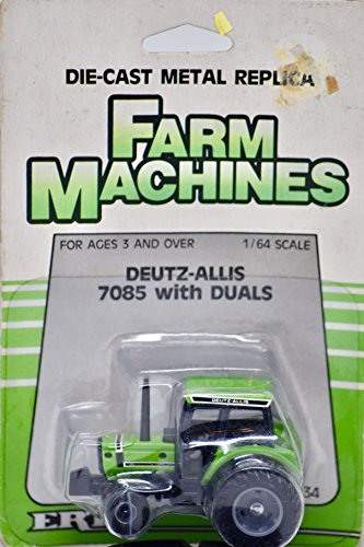 1986 - The Ertl Company - Farm Machines - Deutz-Allis 7085 w/Duals - 1:64 Scale Die Cast - On Card - Collectible - Rare