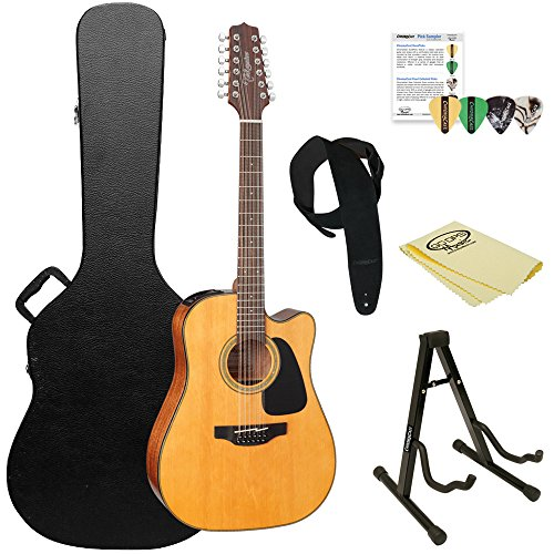 (Takamine GD30CE-12 NAT-KIT-2 Dreadnought 12-String Cutaway Acoustic-Electric Guitar with Hard)