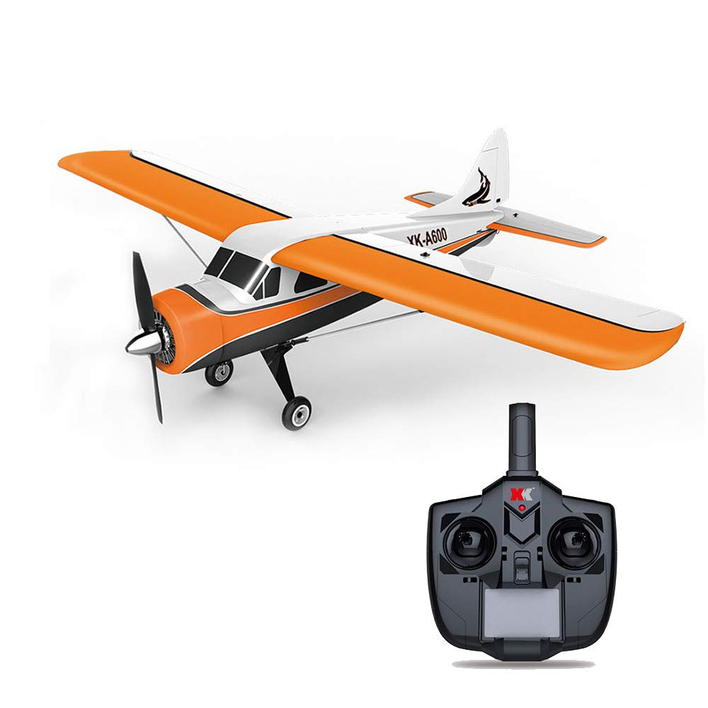 COLOR-LILIJ XK DHC-2 A600 4CH 2.4G Brushless Motor 3D6G RC Airplane 6 Axis Glider,High efficient brushless Motor,Suit for Beginner.