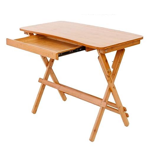 Bai Su Mesa Plegable, Escritorio de bambú, Mesa for Estudiantes de ...