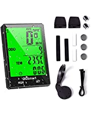 Blusmart Bike Computer Wireless Bicycle Speedometer Waterproof with Large LCD Display Automatic Wake-up Backlight Motion Sensor for Tracking Riding Speed Track Distance