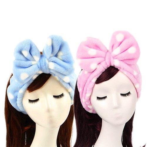 2 PCS Sweet Super Soft Caroset Wash Cosmetic Headband