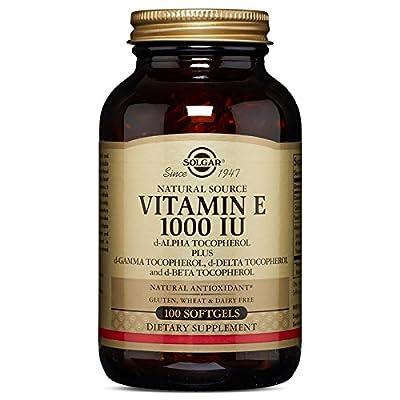 Solgar Vitamin E 1000 IU Mixed D-Alpha Tocopherol and Mixed Tocopherols Softgels, 100 Count