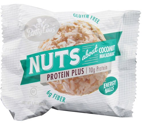 Betty Lou's Nut Butter Balls - Protein Plus - Coconut - 1.7 oz - Pack of 12 Units per Box