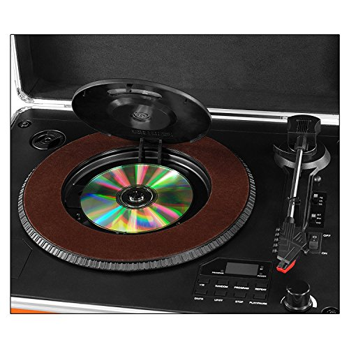 Victrola 3 Speed Bluetooth Suitcase Turntable With Cd