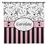 This custom and personalized shower curtain will cheer up any bathroom. Made of 100% polyester and handmade. Now bath time, is fun time.