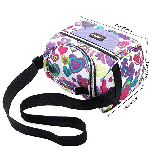 Fashion Portable Insulated Canvas lunch Bag Thermal Food Pic