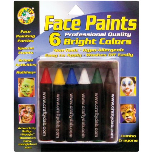 Crafty Dab Face Paint Jumbo Crayons - Bright Colors