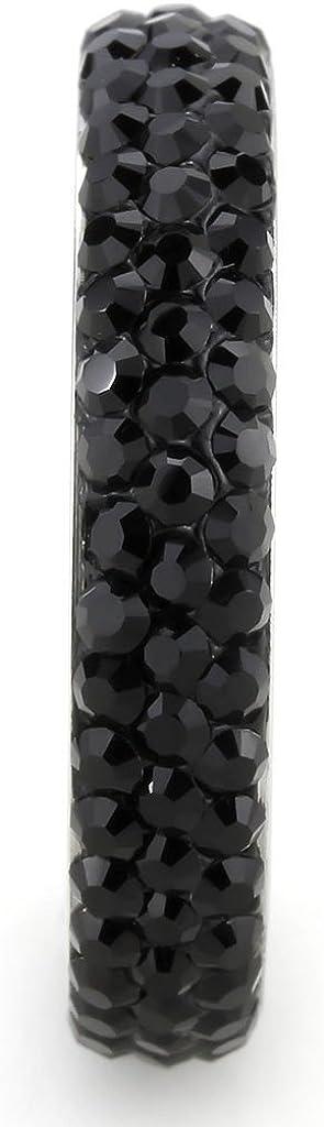 Bague Femme Oxyde de zirconium Noir Amaris Jet Fiancailles ISADY