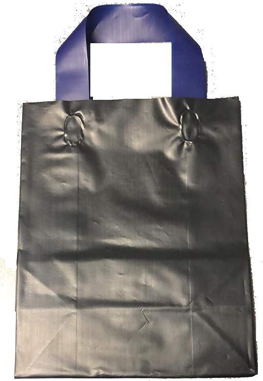 JS Frosted Plastic Shopping Gift Bags Aqua - Quantity of 100 8x5x10