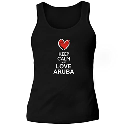 Idakoos Keep calm and love Aruba chalk style - Paesi - Canotta Donna