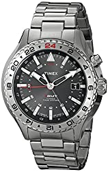 Timex Men's T2P424DH Intelligent Quartz 3-GMT Stainless Steel Watch