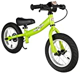 BIKESTAR Original Safety Lightweight Kids First Balance Running Bike with brakes and with air tires for age 3 year old boys and girls | 12 Inch Sport Edition | Brilliant Green