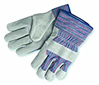 MCR Safety 1300M Select Shoulder Gunn Gloves with 2-1/2-Inch Safety Cuffs, Pearl/Gray, Medium, 1-Pair