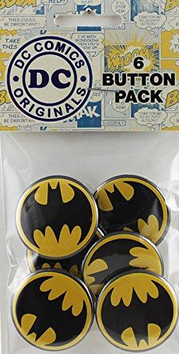 Button set DC Comics Batman Black Logo Button (6-Piece), 1.25